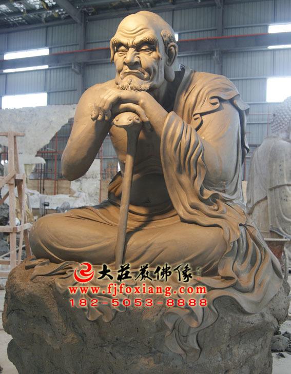 看门罗汉泥塑塑像