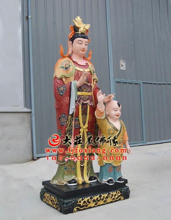 二十诸天之鬼子母塑像