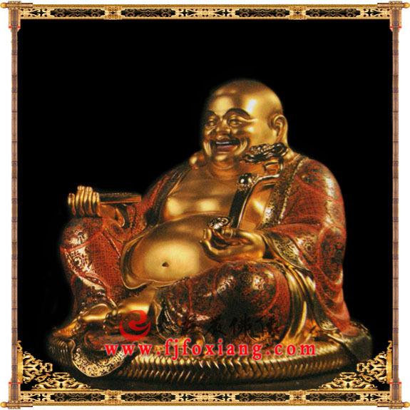 铜雕弥勒佛贴金像