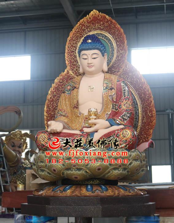 西方三圣之阿弥陀佛塑像