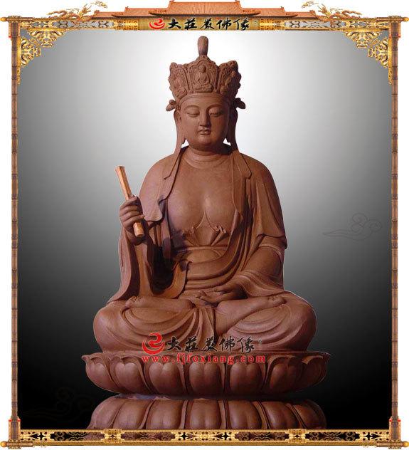 地藏王菩萨泥塑佛像