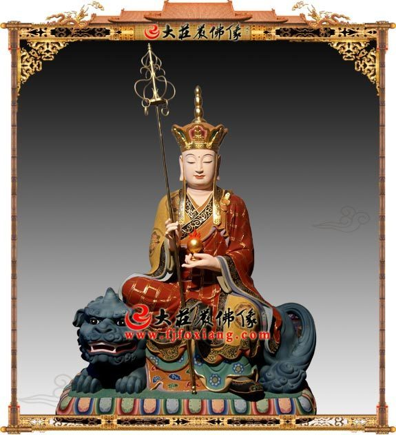 地藏王菩萨铜雕极彩