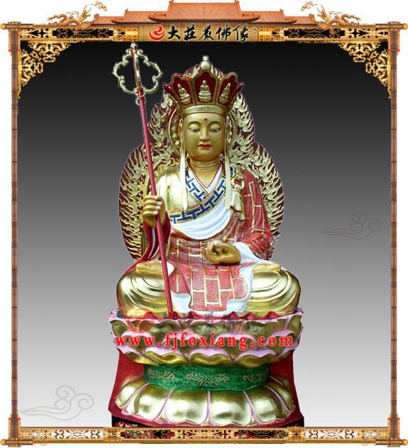 坐莲铜雕地藏王菩萨