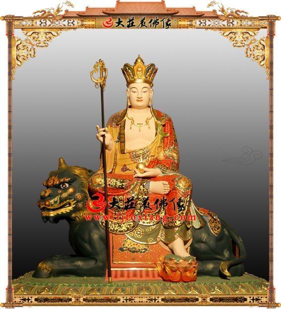 大愿地藏王菩萨铜雕彩绘佛像
