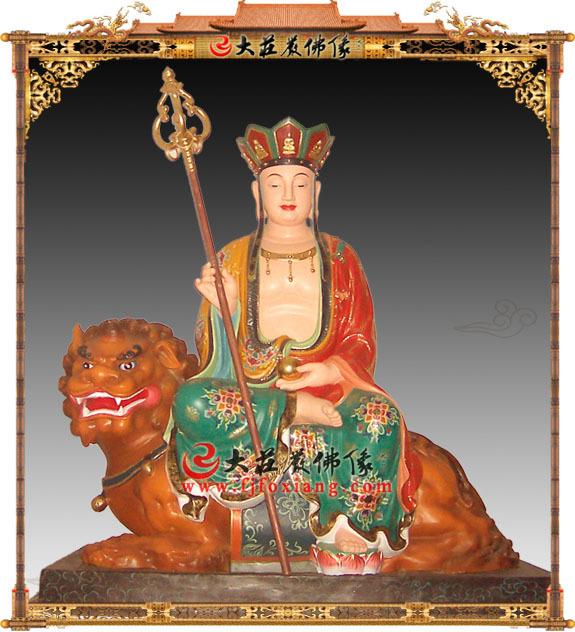 彩绘座骑地藏王菩萨