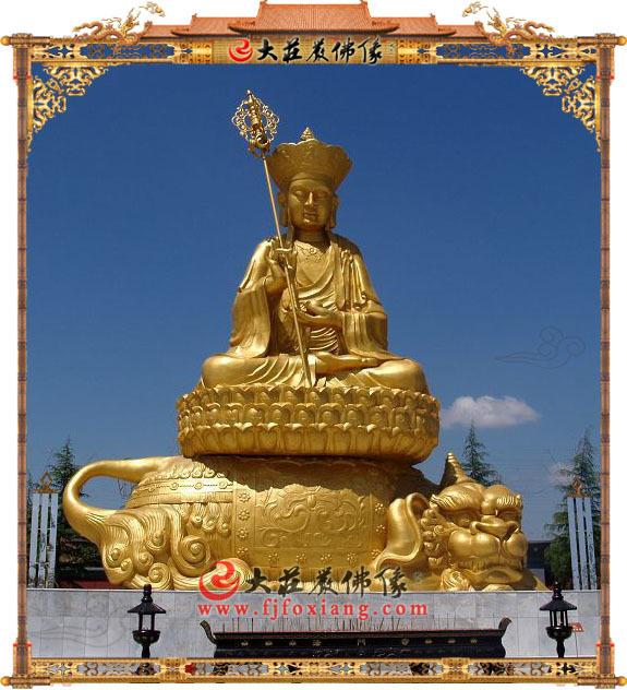 铜雕贴金地藏王