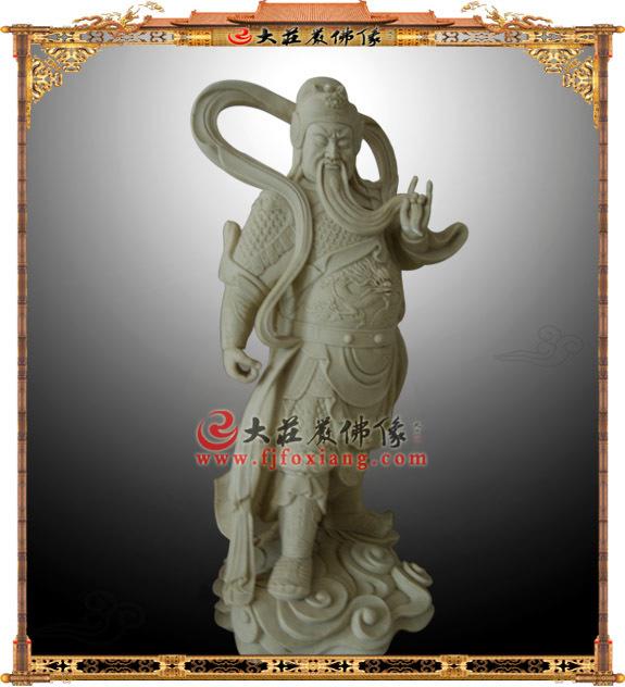 伽蓝菩萨关公木雕像