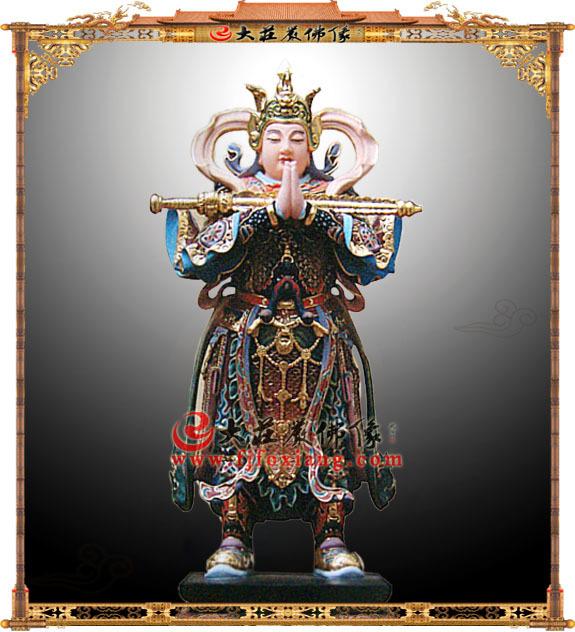 韦陀菩萨彩绘像