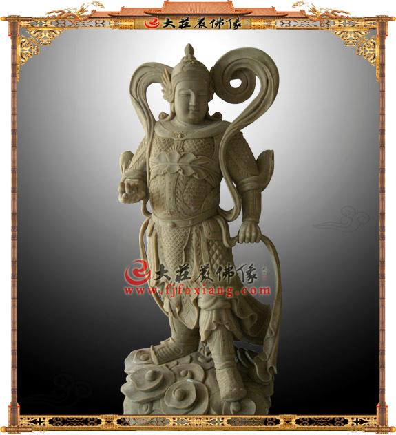 韦驮菩萨木雕