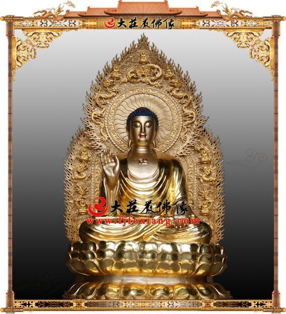 三宝佛之铜雕药师佛铜雕