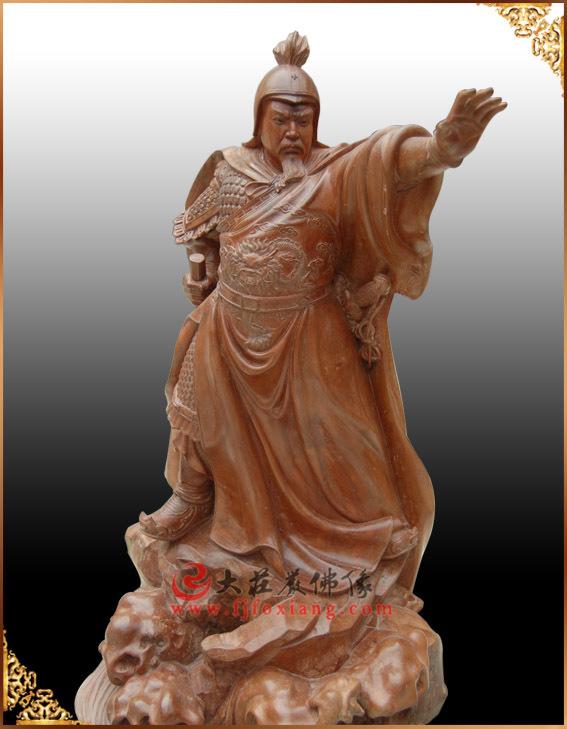 郑成功,名人木雕雕像