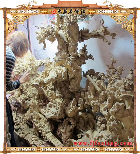 木雕佛像施工