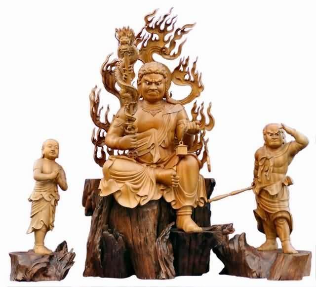 木雕不动明王