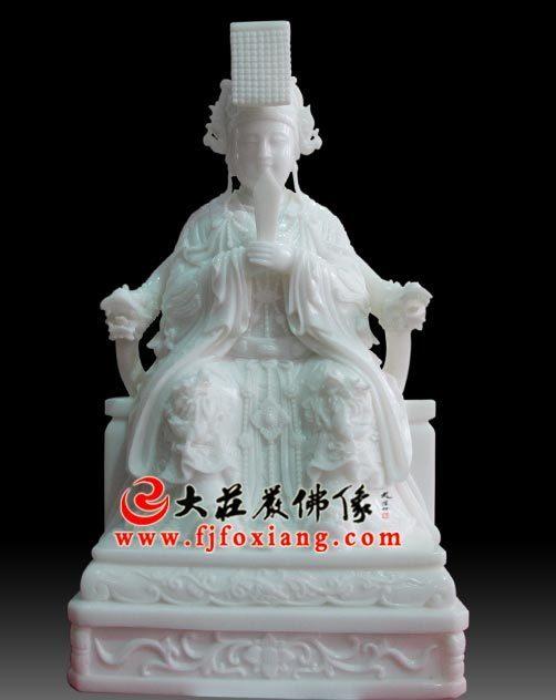 妈祖座相,玉雕神像