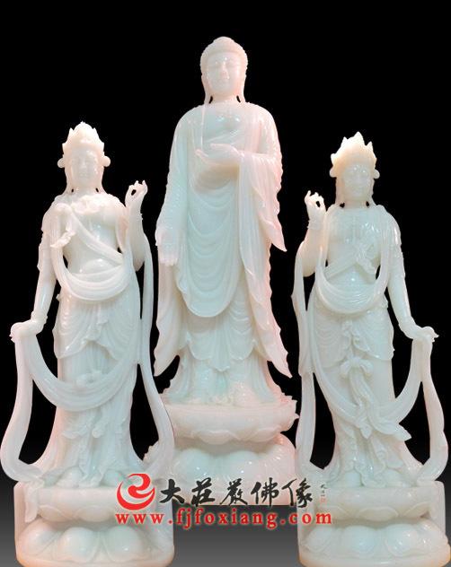 西方三圣,玉雕佛像