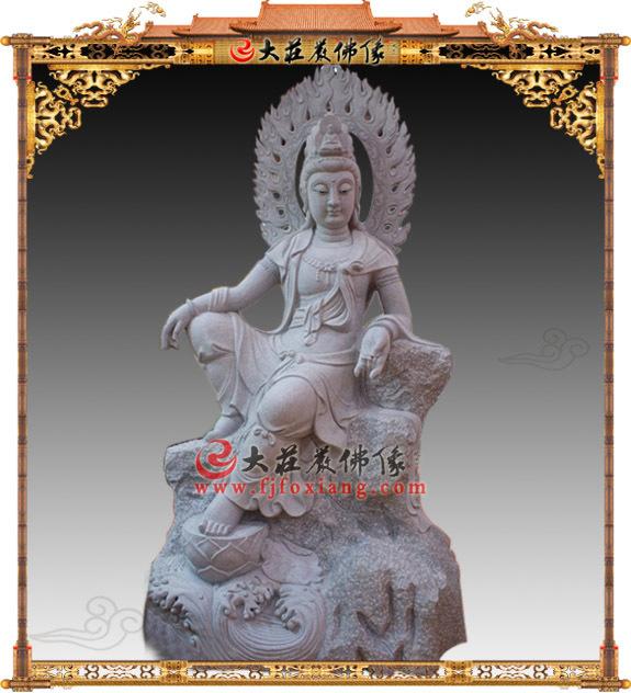 石雕自在观音佛像
