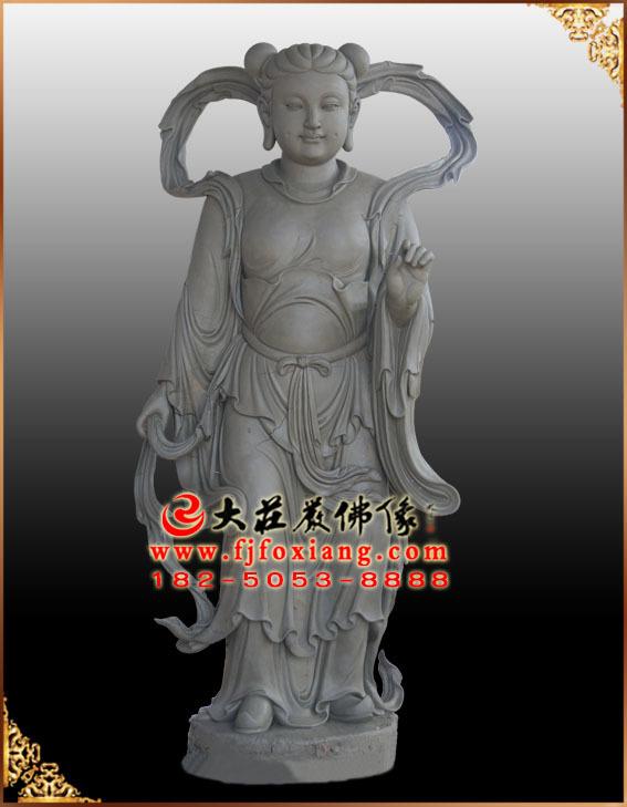 龙女泥塑塑像