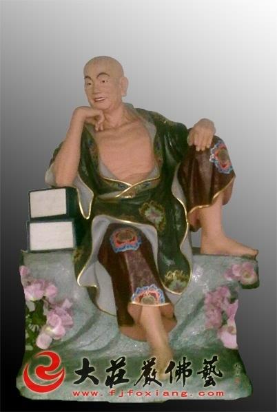 伐那婆斯尊者彩绘塑像