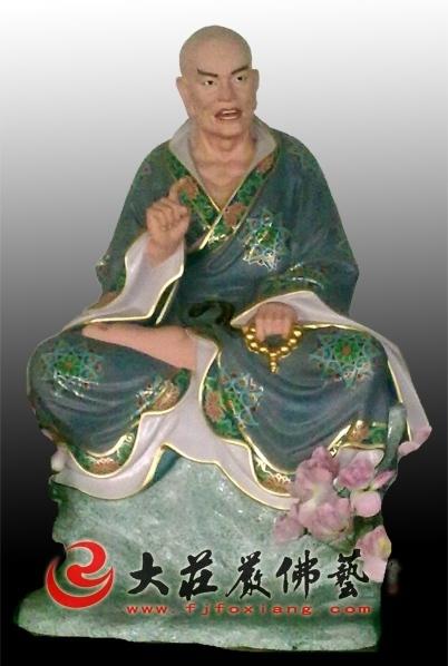 伐阇罗佛多尊者彩绘塑像
