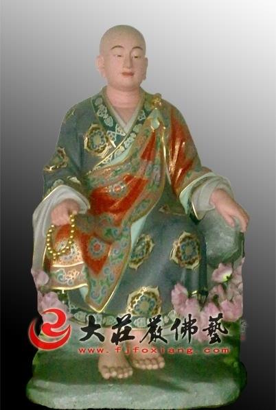 戌博迦尊者彩绘塑像