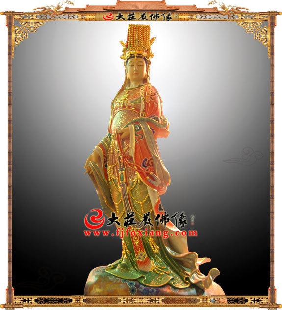 妈祖神像 妈祖娘娘木雕彩绘描金塑像 海神湄洲天上圣母天妃天后道教神像雕塑