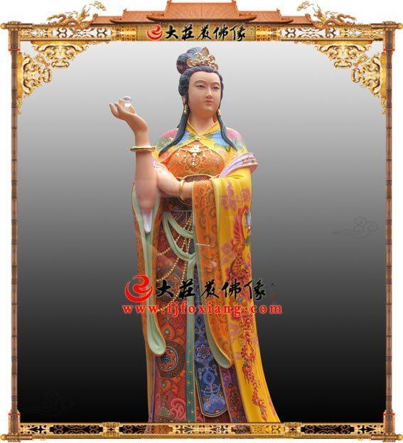 林默娘铜雕彩绘神像 妈祖娘娘天妃天后天上圣母道教神像