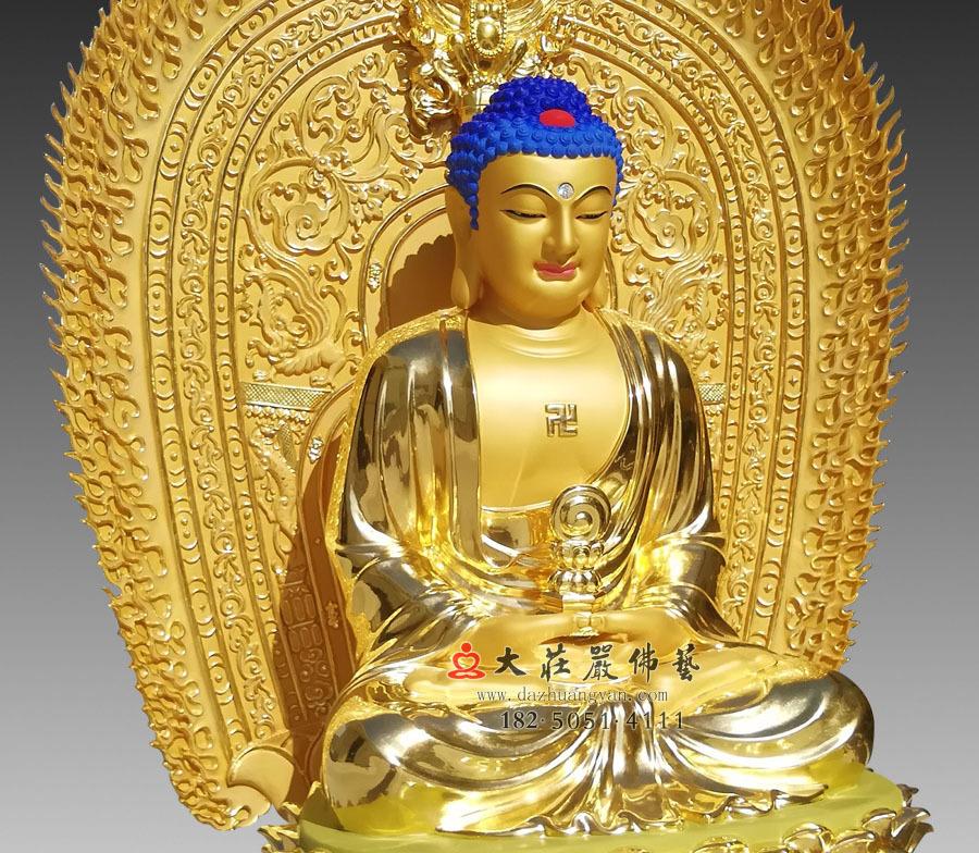 三宝佛之释迦牟尼佛侧面近照