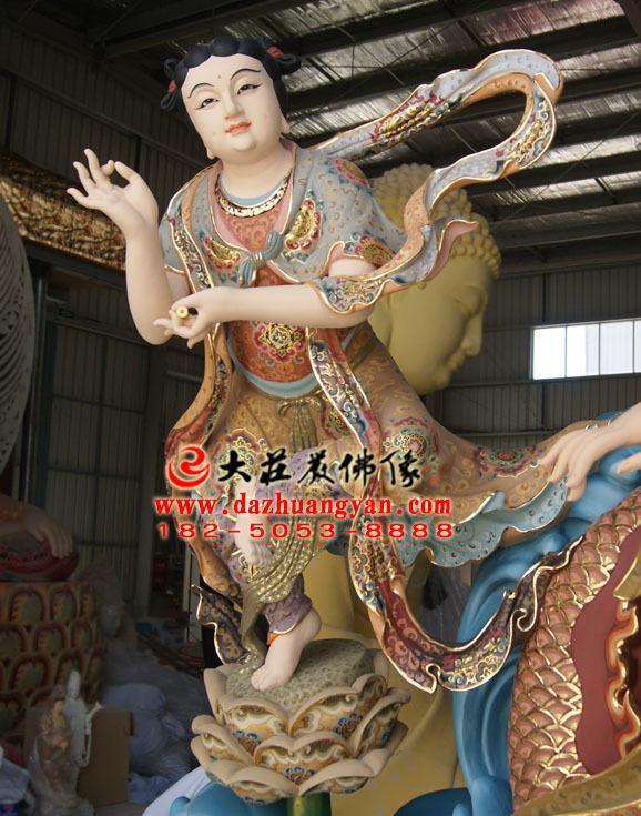 龙女生漆脱胎彩绘佛像