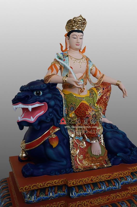 文殊菩萨侧面彩绘佛像