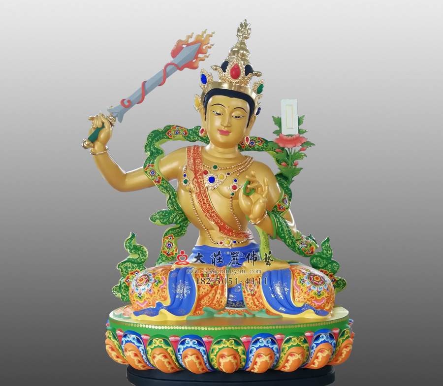 文殊菩萨佛像雕塑 四大菩萨文殊师利佛像定制厂家