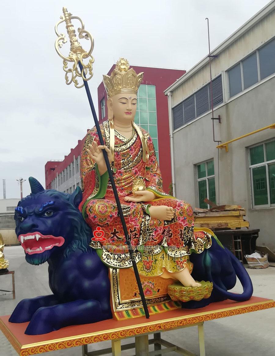 地藏菩萨侧面彩绘像