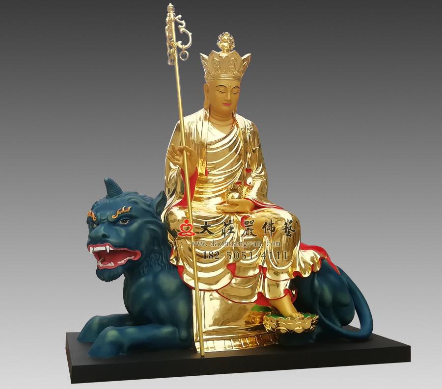 地藏菩萨贴金侧面佛像