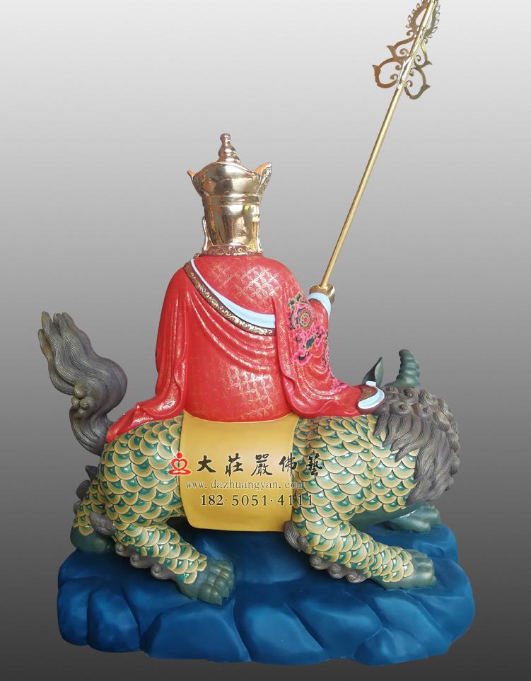 铜雕彩绘贴金地藏菩萨