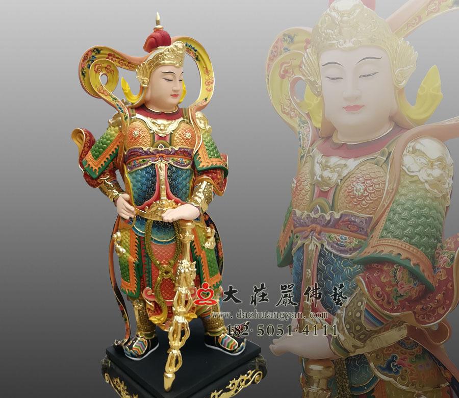 护法菩萨金刚力士韦陀天雕塑 韦驮菩萨佛像定制厂家