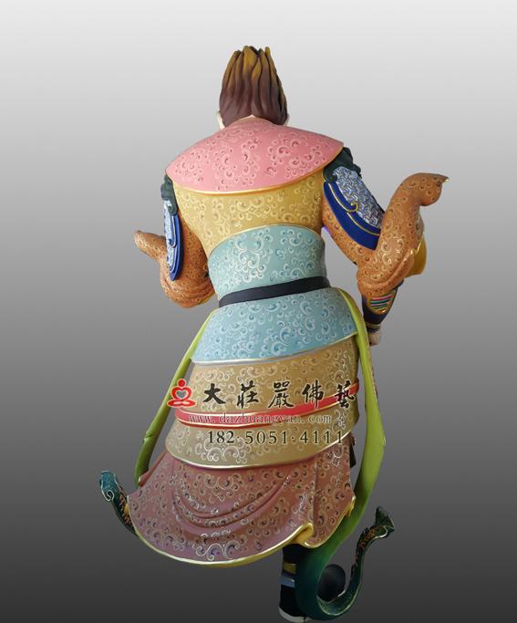 铜雕四大天王之八大眷属背部彩绘像