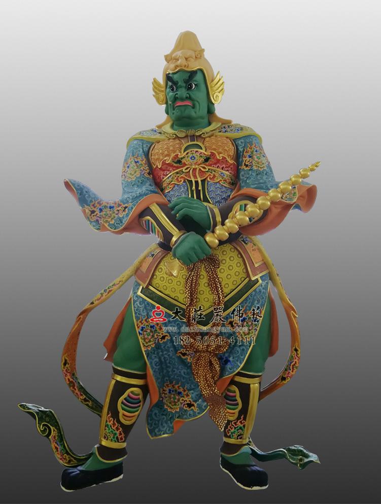 护法神四大天王八大神将彩绘雕塑