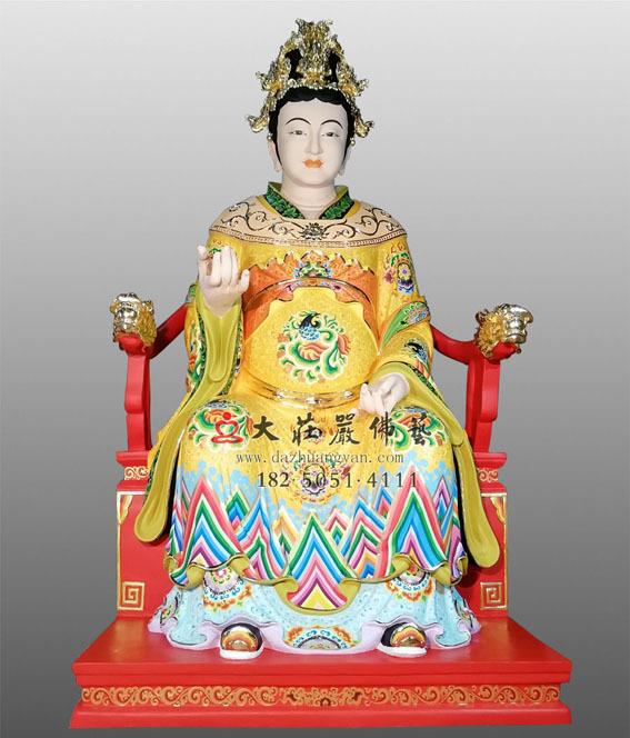 道教神像石峡夫人彩绘雕塑