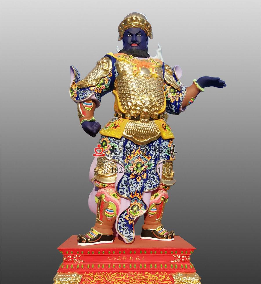 道教护法神将六丁六甲 甲戌神将展子江彩绘贴金神像雕塑