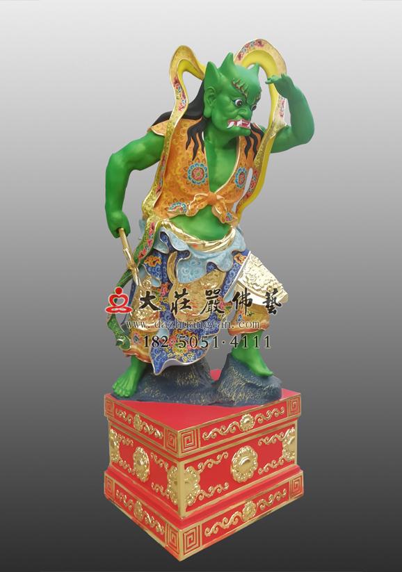 铜雕道教千里眼彩绘神像