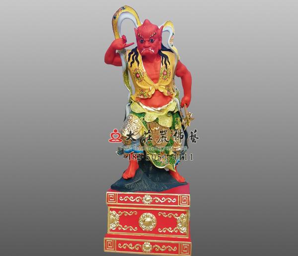 道教守护神顺风耳彩绘神像雕塑