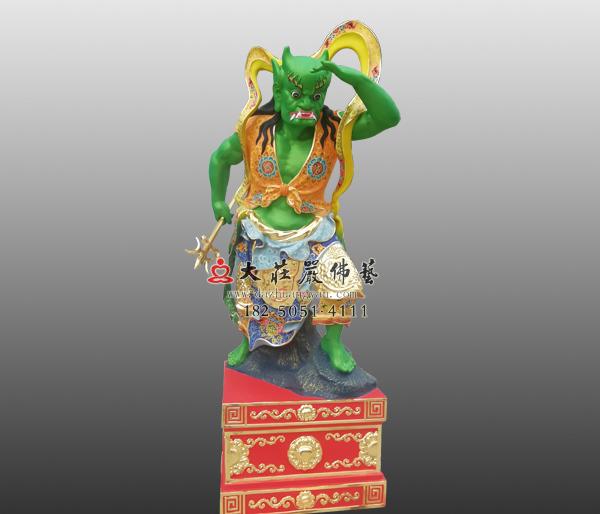 道教守护神千里眼彩绘神像雕塑