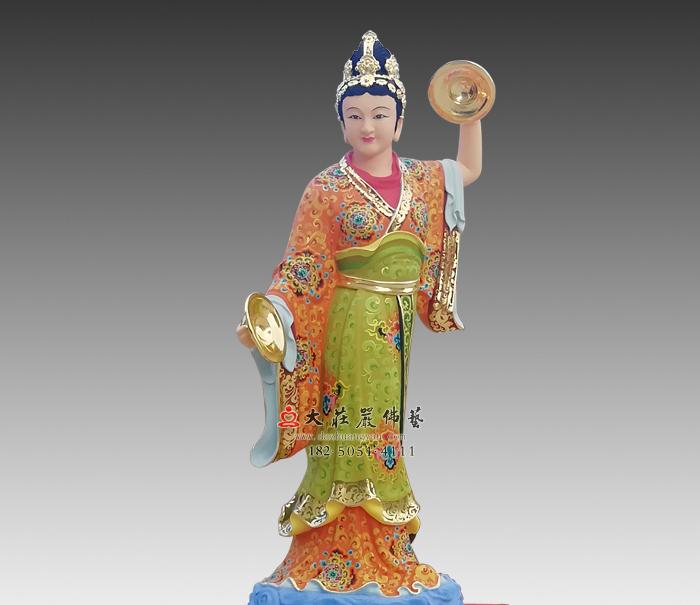 闪电之神金光圣母,道教神像风雨雷电,电母彩绘神像雕塑