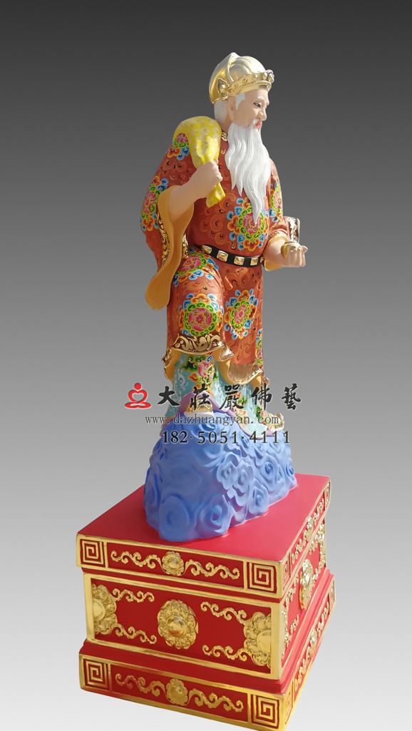 铜雕彩绘风伯神像