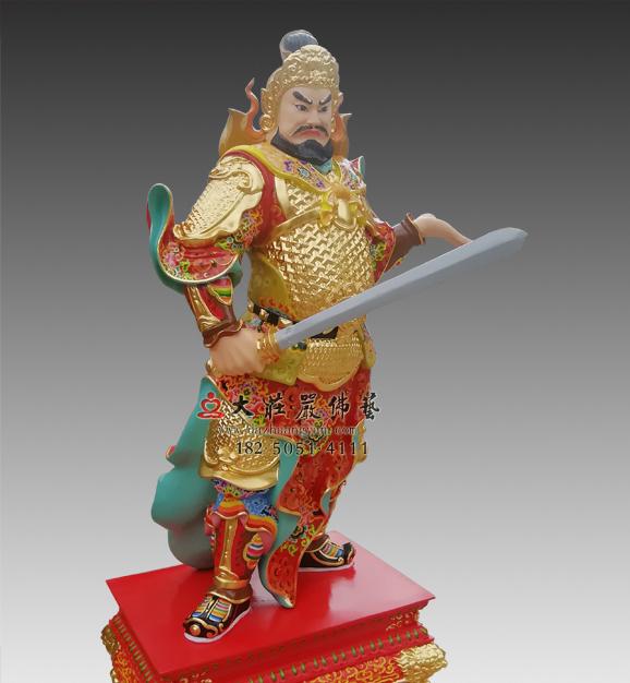 丁丑神将赵子任彩绘神像