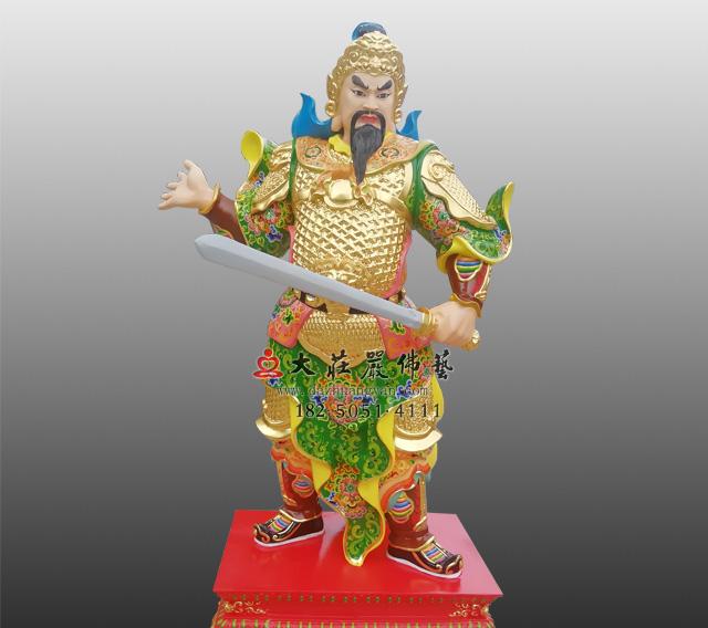 道教护法神将六丁六甲神像甲寅神明文章彩绘神像雕塑