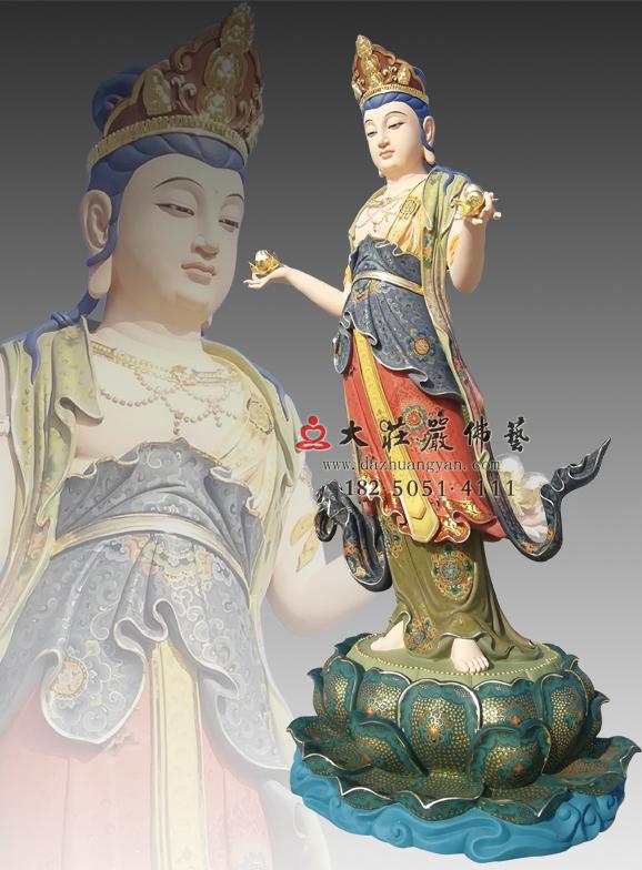 八大菩萨之文殊菩萨彩绘佛像