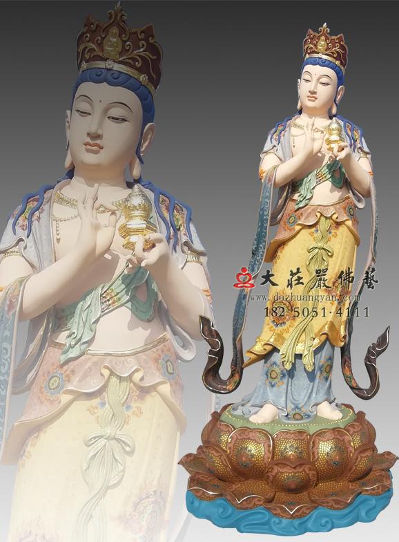 八大菩萨之地藏菩萨彩绘像