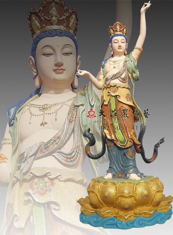 八大菩萨之虚空藏菩萨彩绘佛像