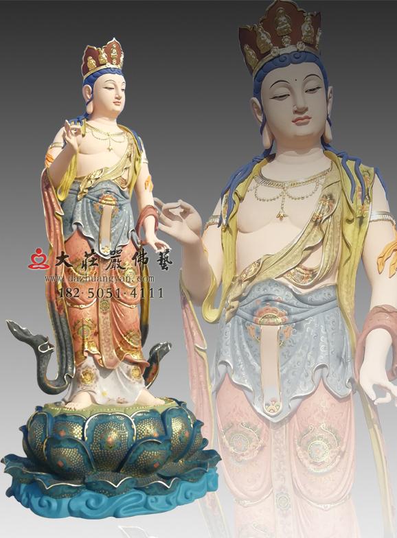 铜雕八大菩萨之普贤菩萨彩绘像