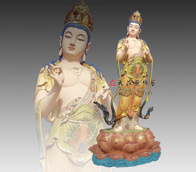 八大菩萨之金刚手菩萨彩绘铜雕佛像